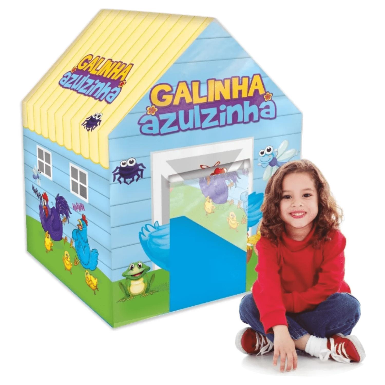 Casinha Barraca Infantil Galinha Azulzinha