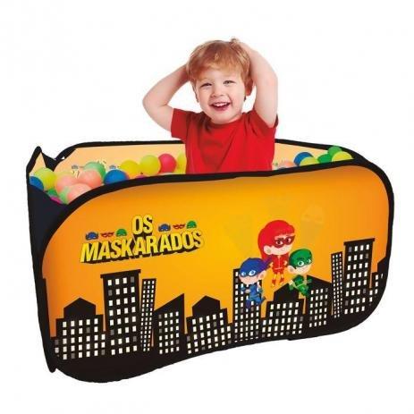 Piscina de Bolinhas Infantil Os Mascarados com 100 Bolinhas