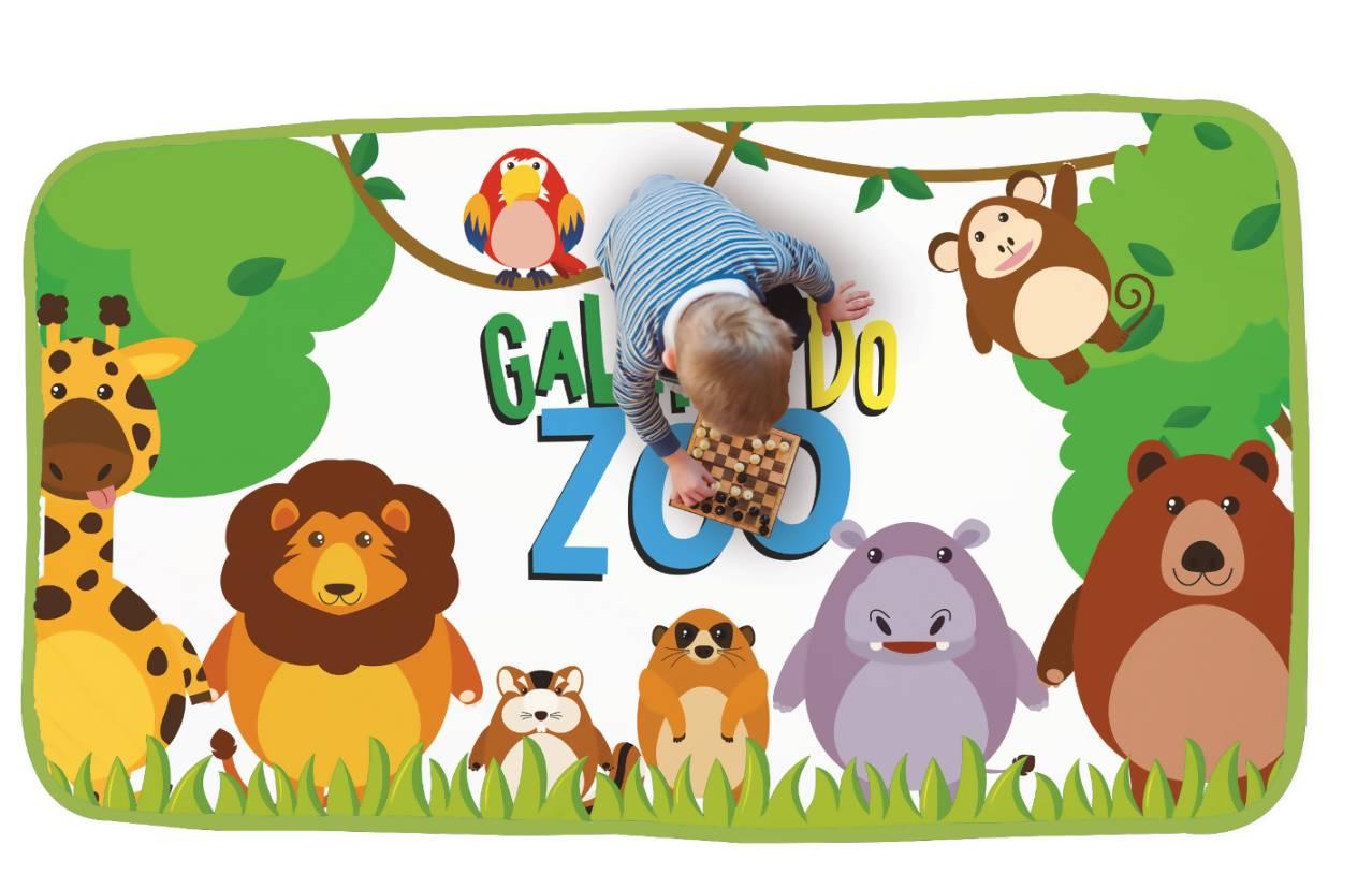 Tapete Infantil Zoo 1,37m x 0,82m