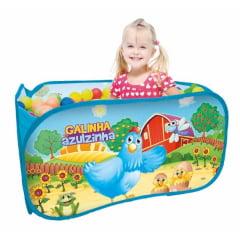 Piscina de Bolinhas Infantil Galinha Azulzinha com 100 Bolinhas