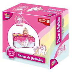 Piscina de Bolinhas Infantil Unicórnios com 100 Bolinhas
