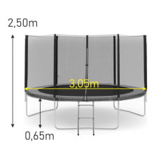 Cama Elástica 3,05m Slim PT