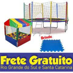 COMBO 4 - CAMA ELÁSTICA BLACK EDITION 3,10M + PISCINA DE BOLINHAS 1,10M C/ 500 BOLINHAS + BRINDE