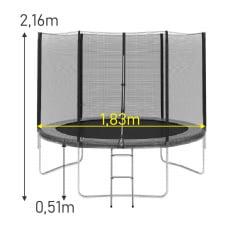 Cama Elástica 1,83m Importada Slim PT
