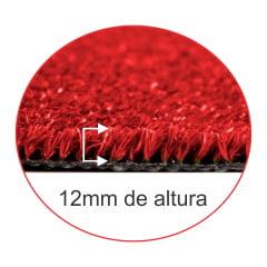 Grama sintética Decorativa Vermelha 12mm