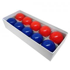 Bolas de Sinuca 5 azuis + 5 Vermelhas 52mm