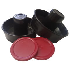 Kit com 2 rebatedores + 2 discos para Aero Hockey (Profissional)