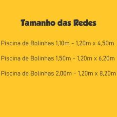 Rede de Proteção para Piscina de Bolinhas 2,00m