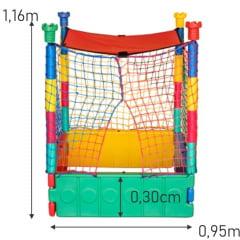 Piscina de Bolinhas Plástica - Lavável 0,95m  X 0,95m com 500 Bolinhas